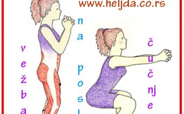 vežbe protiv hemoroida, čučnjevi