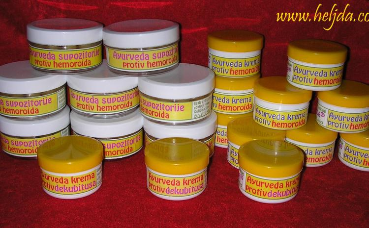 Ajurvedske kreme protiv hemoroida i dekubitusa