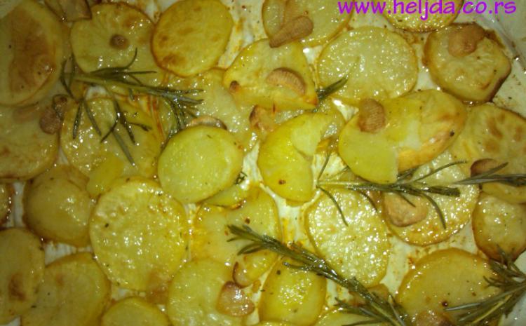 krompir, ruzmarin, beli luk