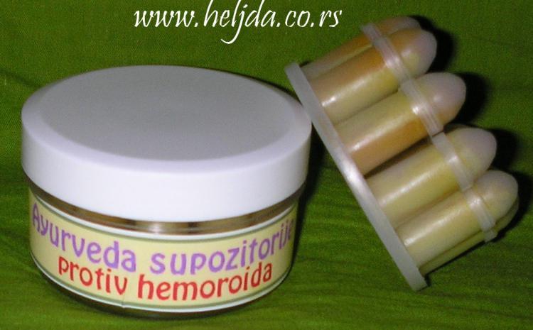 Čepići protiv hemoroida na bazi kurkume