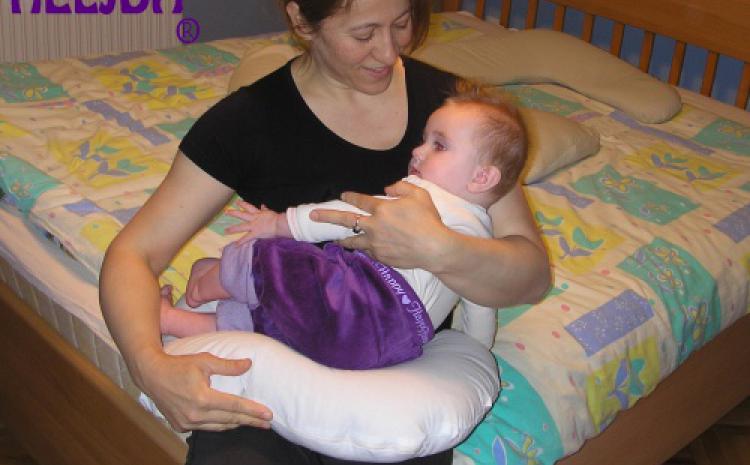 Trodelni jastuk za trudnice od heljde: dete, majka i beba