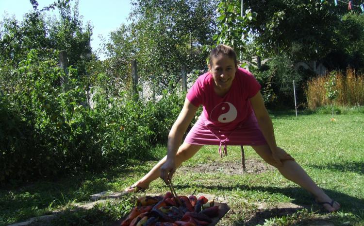 Pečem paprike i vežbam jogu