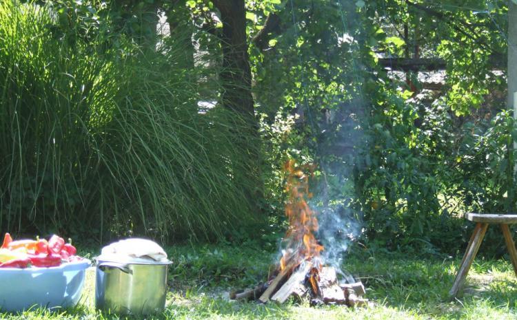 Makedonski pindžur, priprema vatre