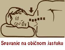 Spavanje na običnom jastuku