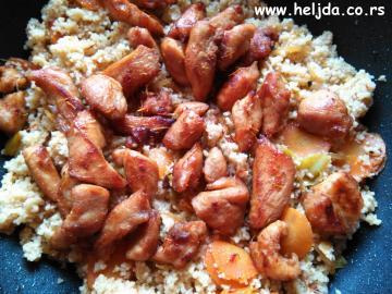 Kus-kus sa piletinom, povrće i šafran