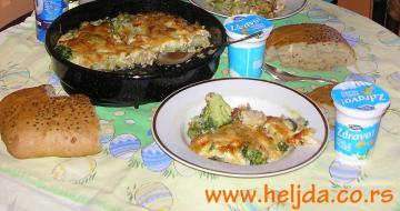 Musaka sa brokolima, prokelj i praziluk