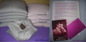 Teslina purpurna ploča, i jastuk od heljde