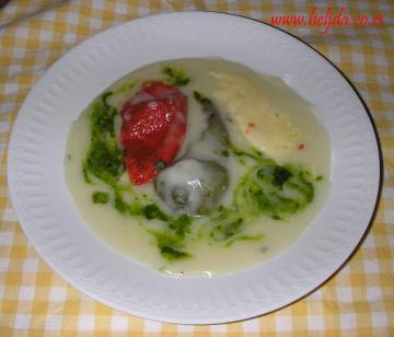 Beli sos sa sremušom